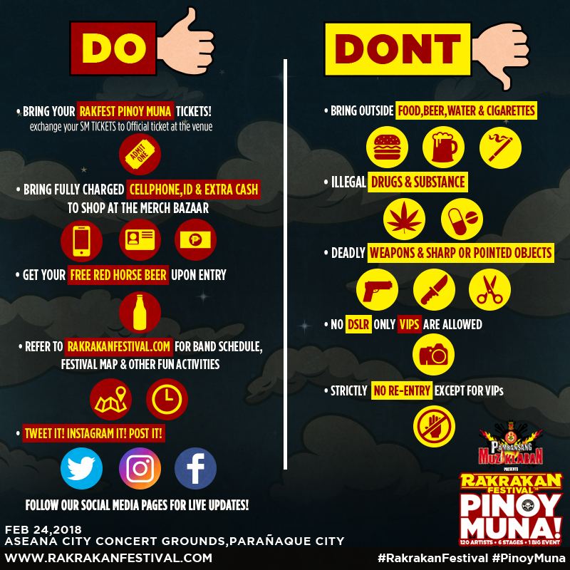 RAKRAKAN FESTIVAL 2018: PINOY MUNA! DO'S AND DON'TS