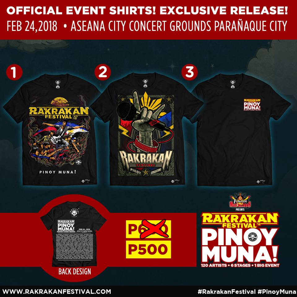 RAKRAKAN FESTIVAL: PINOY MUNA OFFICIAL EVENT T-SHIRT!