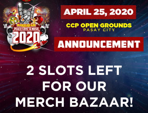 2 SLOTS LEFT FOR OUR MERCH BAZAAR!