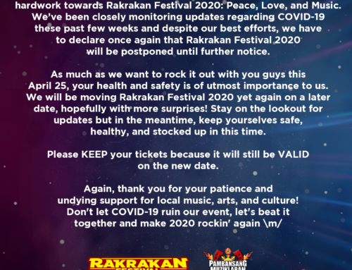 RAKRAKAN FESTIVAL ANNOUNCEMENT